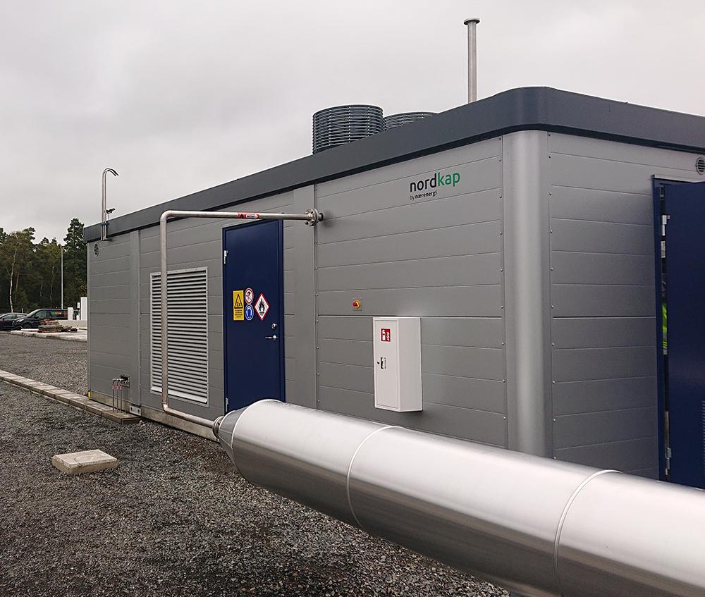 Naerenergi Nordkap beskytter biogasanlaeg mod vind vejr