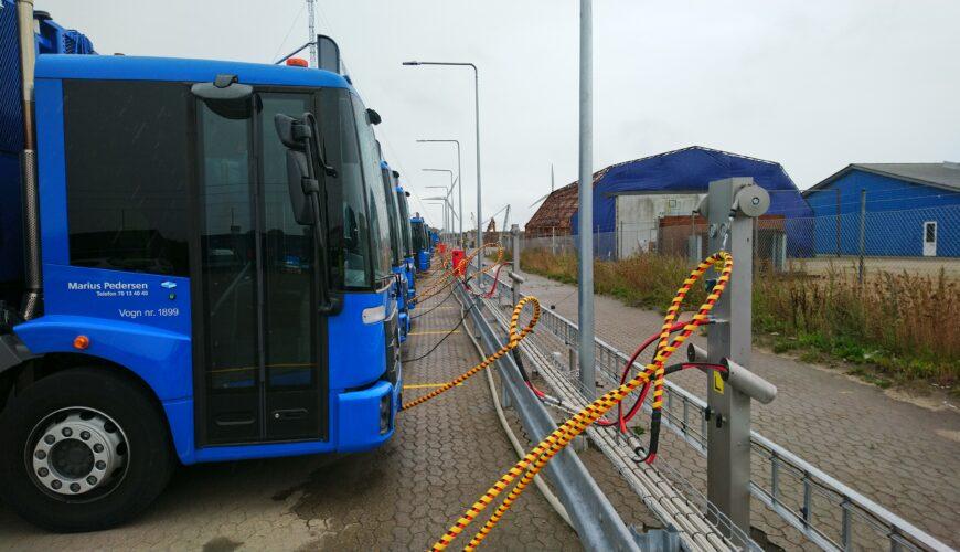 Naerenergi biogasstation Marius Pedersen skraldebiler