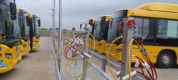 Naerenergi biogastankstation bybusser